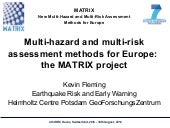Multi-hazard and multi-risk assessm...
