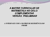 Matriz curricular de matemática apr...