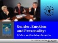 Cross-Cultural Studies on Gender, Emotion and Personality