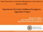 Experiences from the Caribbean Emer...