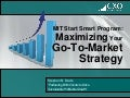 Maximizing your go to-market strategy - 03052012