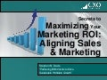 Maximizing Your Marketing ROI - Align Sales & Marketing