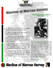Maxims of Marcus Garvey