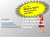 Optimizing With Online Buyer Personas