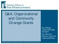 Reducing Family Homelessness in Virginia: Community and Organizational Change Grants