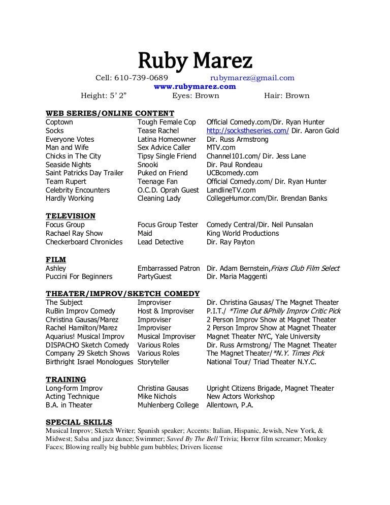 Film Resume Templates Pinterest