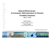 Network Effectiveness Presentation:...
