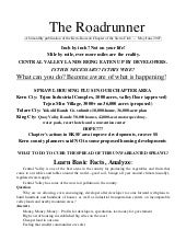 May-June 2007 Roadrunner Newsletter...