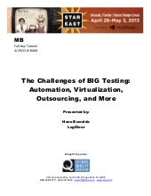 The Challenges of BIG Testing: Auto...