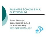 Mba Makes The Worl Flat - Professor...