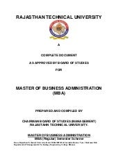 Mba syllabus subject to approval of...