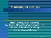 MBA Unit1 Marketing Of Services