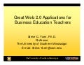 Great Web 2.0 Applications for Business Education Teachers