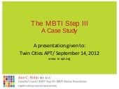 Mbti Step Iii Tc Apt