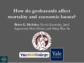 How do different geohazards affect ...