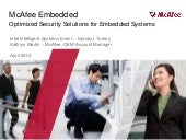 McAffee_Security and System Integrity in Embedded Devices