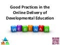 MCCVLC Webinar - Good Practices in Online Delivery of Developmental Ed