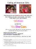 American Girl dolls donation request