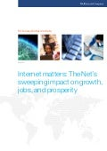 Internet matters: The Net's sweeping impact on growth,jobs, and prosperity ( May 2011) by McKinsey