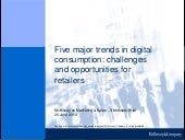 Digital consumer: Five major trends