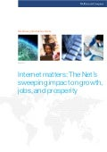 Internet matters: The Nets sweeping impact on growth, jobs, and prosperity.