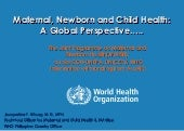 Maternal, Newborn and Child Health:...