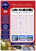 Late Availability from Midlands Region - 22/03/10 - 24/04/10