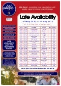 Alfa Travel Late Availability departures from Midlands 1st May 2010 – 31st May 2010