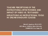 Text vs. Video Reflections: Teacher...