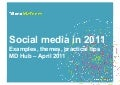 Social media in 2011 - MD Hub presentation