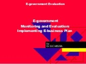Misra, D.C.(2009): E-government Mon...
