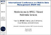 Mobile Access to MPEG-7 Based Mult...