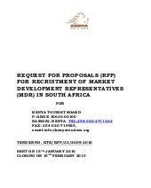 Request For Proposals (RFP) For Rec...