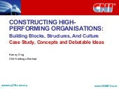 Constructing High Performing Organi...