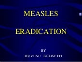 Measles eradication