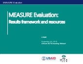 MEASURE Evaluation: Results framework and resources