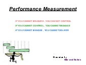 Measuring performance of the public...