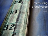 Measuring Brand Value | Patrick Col...