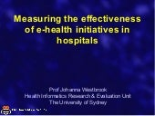 Measuring the Effectiveness of eHea...