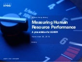 Measuring Human Resource Performance