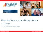 Measuring success alumni impact sur...