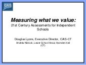 Measuring what we value - lyons and niblock presentation