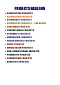 Mechanical & Model Projects List 2009   10 Ncct Including Ieee
