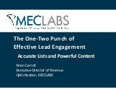 The One-Two Punch of Effective Lead Nurturing