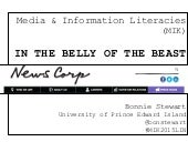 Media & information literacies: In the belly of the beast