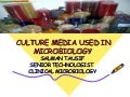 Media in microbiology