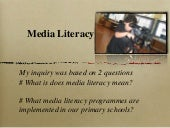 Media Literacy  Inquiry