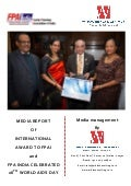 Media Report of International Award Received by FPAI and Worlds AIDS Day - PR done by Whiz Consulting & Marketing