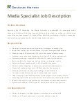 Media Specialist Job Description