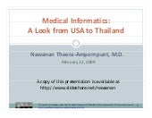 Medical Informatics: A Look From US...